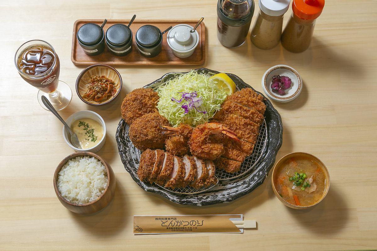Hayashi SPF There are pork cutlets and shabu-shabu dishes!