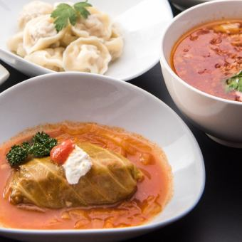 Standard Russian cuisine can be enjoyed! 【Matryoshka course】 with 2 hours all you can drink !! ◆ All 6 items