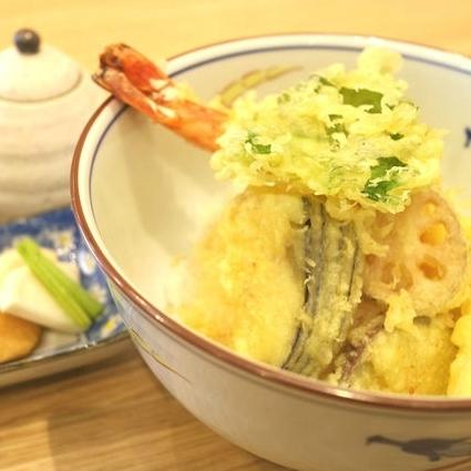 大海老山葵(わさび)ミニ天丼