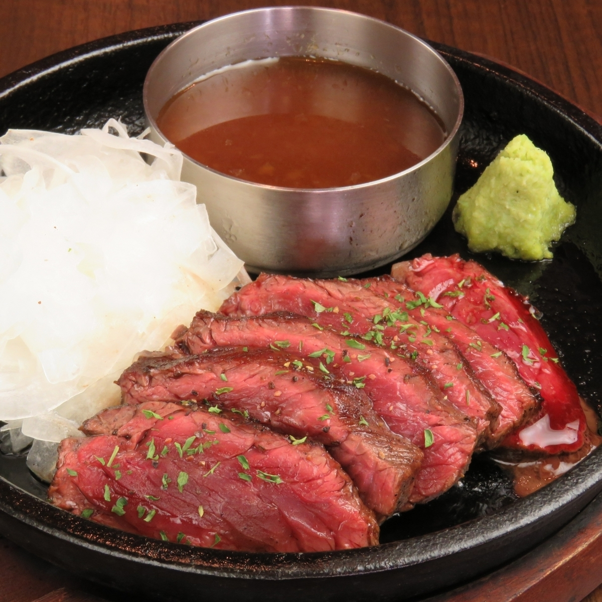 Beef steamed iron plate