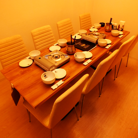 Private rooms are 8 persons x 1, 6 people x 1! The pots ◎ at various banquets are Hibiki original flavors, miso and soy sauce flavors and a wide range of pot, especially the Hibiki original pot is a very popular menu from the open.