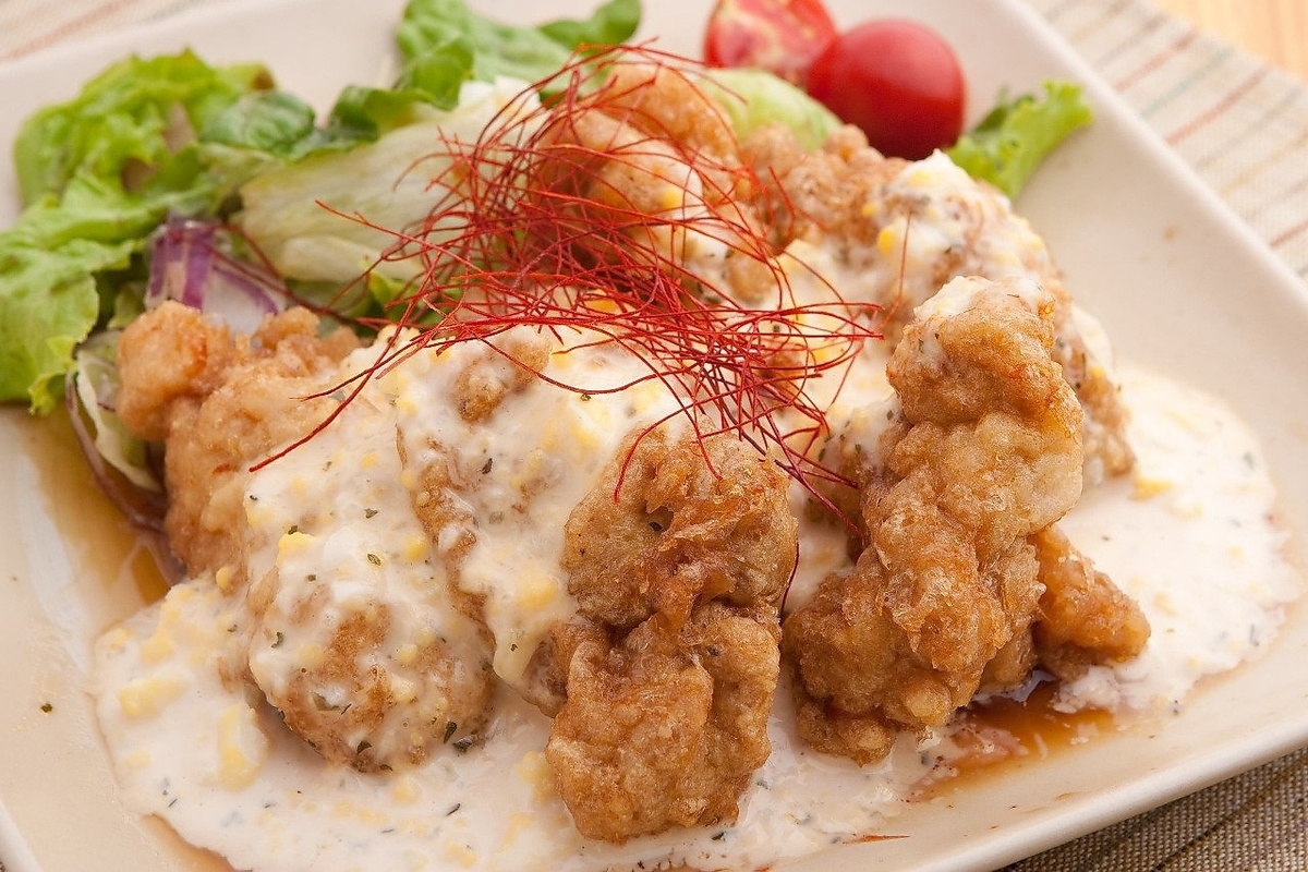 Chicken Nanban Tartaru / fried / deep fried tofu from cartilage / deep-fried young bird / deep-fried burdock