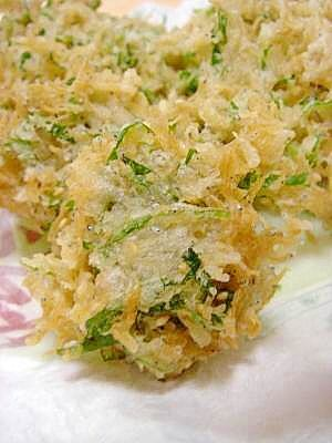小イワシ天ぷら/生しらすと三つ葉のかき揚げ/地ダコとキノコの炒め