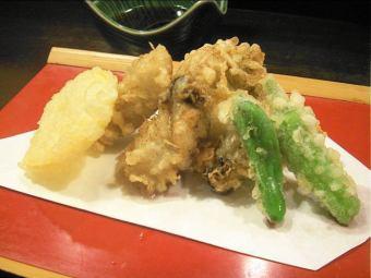 天麸罗从广岛牡蛎