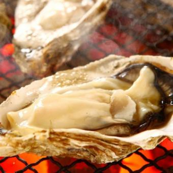 Grilled oyster with shell only in winter