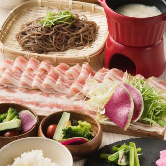 Limited time 【~ 1/31】 Crisp pork shabu-shabu all-you-can-eat + 2 hours with unlimited drink course 3500 yen ⇒ ★ 3000 yen ★