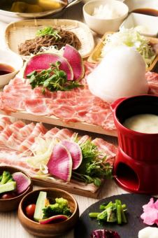Limited time 【~ 1/31】 All you can eat Lamb Shabu & Pork Shabu + 2 hours with unlimited drink course 4000 yen ⇒ ★ 3500 yen ★