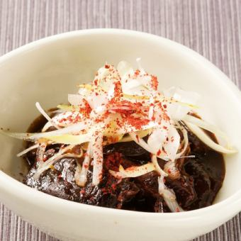 Boiled beef tongue with rain shower