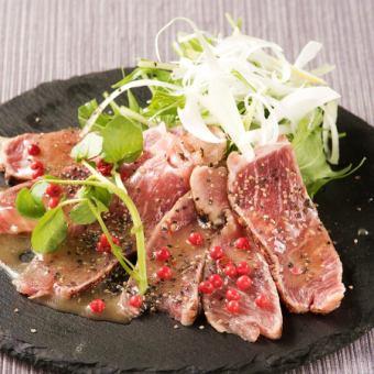 Lamb meat carpaccio