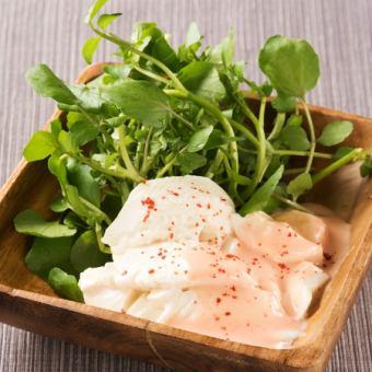 Mentaiko Salad with Tofu and Watercress