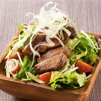 Broiled beef tongue salad