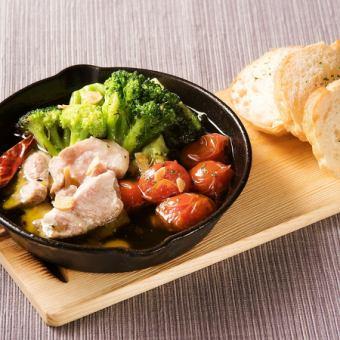 Ahijyo of lamb and seasonal vegetables