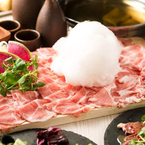 <PHOTOGENIC ♪> All you can eat Lamb Shabu & Pork Shabu + 2 hour All-you-can-drink course