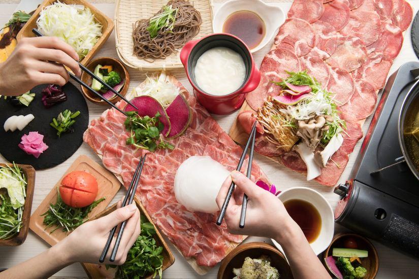 Photoge shabu shabu shop specialty! Healthy lamb and beef tender ♪