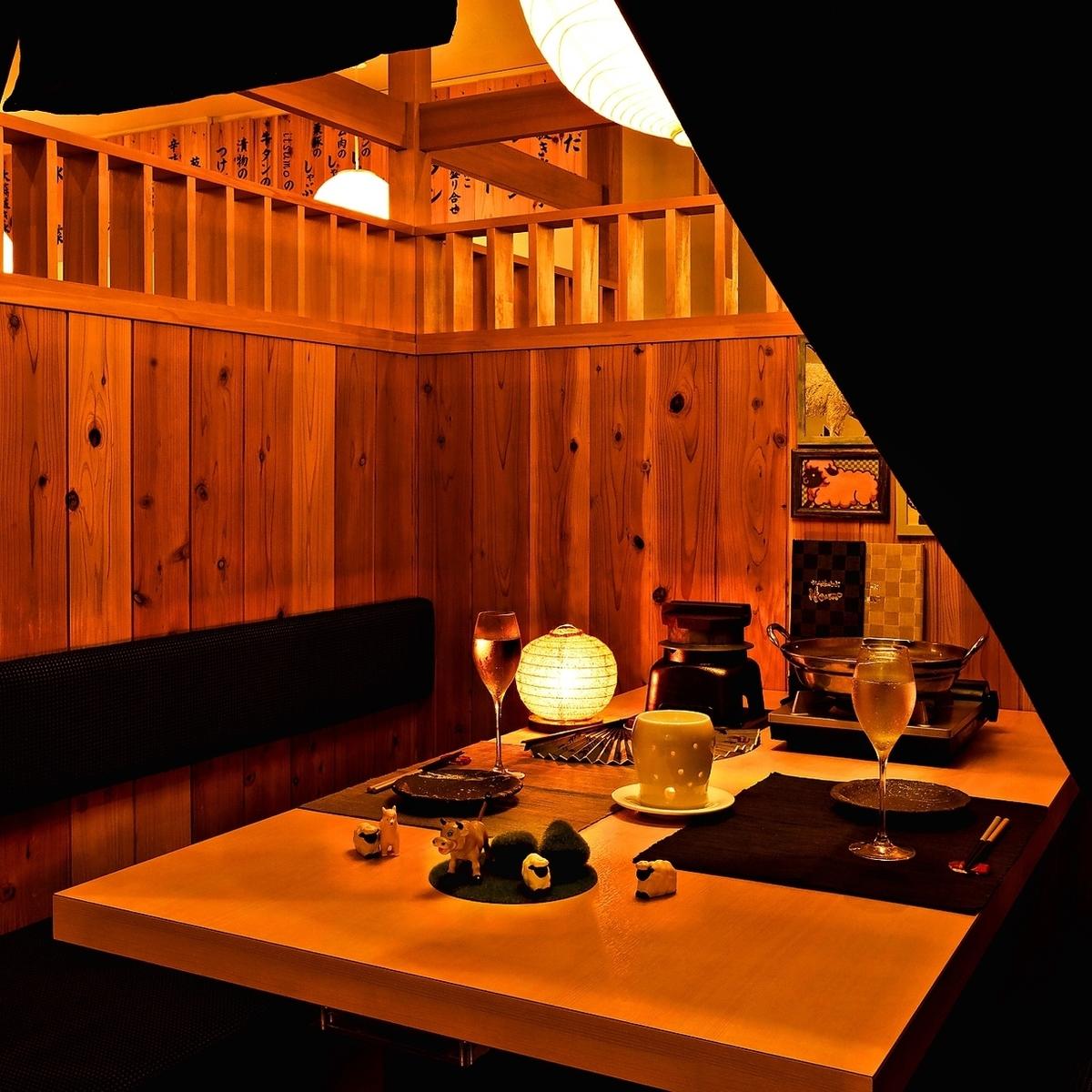 個人房間充滿了私人感覺!它非常適合約會以及生日和女孩社團♪
