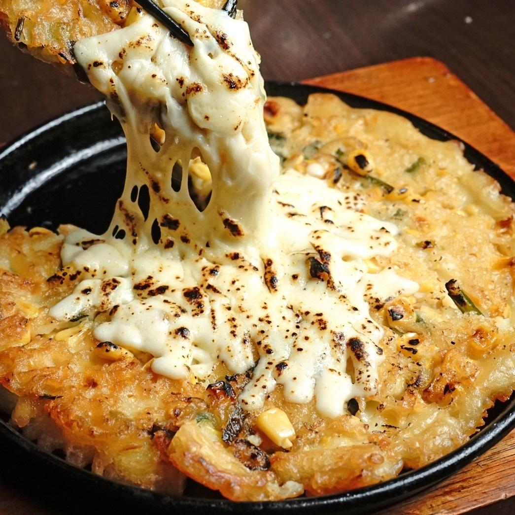 치즈 옥수수 부침개