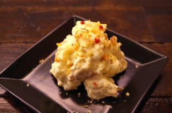 Walnut and Camembert cheese potato salad