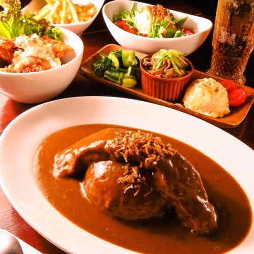 【Curry course】 2 hours drink all you can eat + all 10 items ⇒ ⇒ 2980 yen ♪