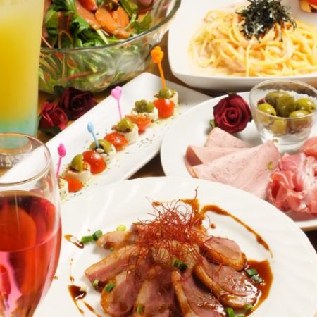 【Pasta course】 2 hours all you can drink and all 10 items ⇒ 2980 yen ♪