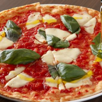 【Cena A】選べるピッツァorパスタ、自家製ジェラート等お料理全6品コース♪当日OK!