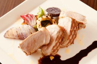 【Cena B】メイン料理もついた季節の食材を使ったお料理全8品コース♪当日OK!