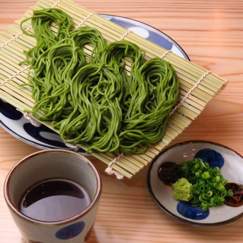 愛知県西尾の抹茶そば