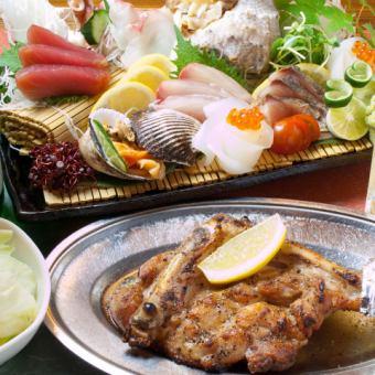 2H Excursion course 4500 yen → 4000 yen ☆ Sanuki gourmet platter course ♪