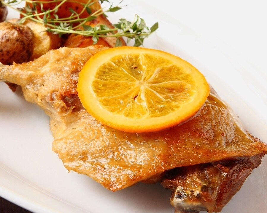 Confit of duck with bone
