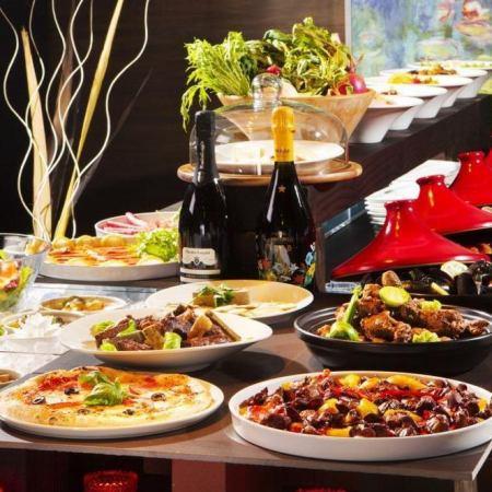 【ウェディングパーティプラン】ビュッフェスタイルのお料理+飲放付4000円