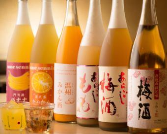 【宴会】果実酒10種のレディースコース(120分飲み放題付き)3980円