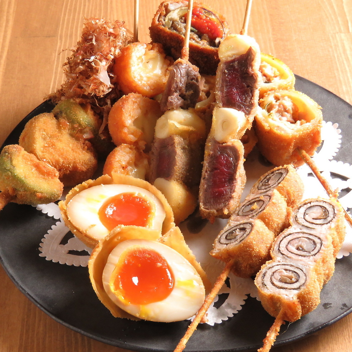 Popular skewer fried 200 yen ~
