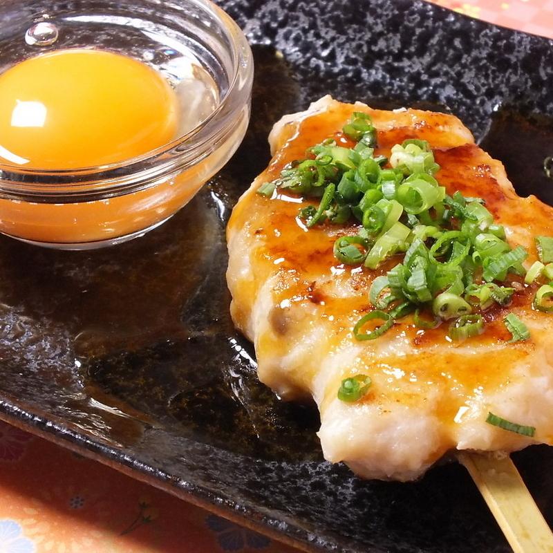 Handmade Tsukune (Sauce: with egg / salt: cheese onions) / Shiitake mushrooms