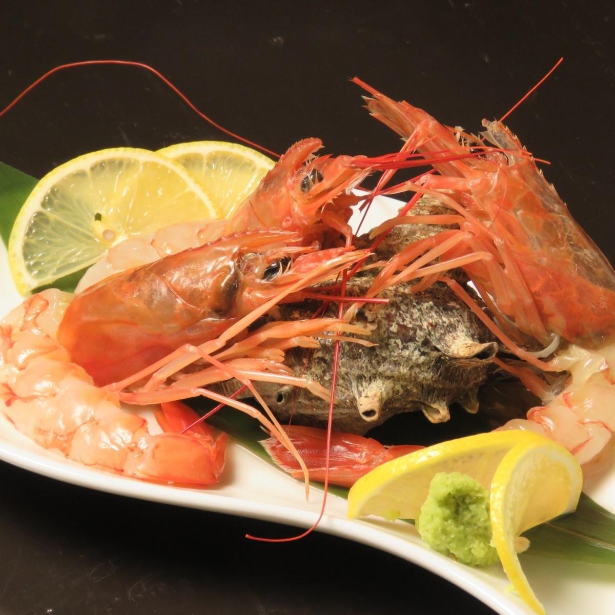 Red Shrimp (Teppanyaki or sashimi)