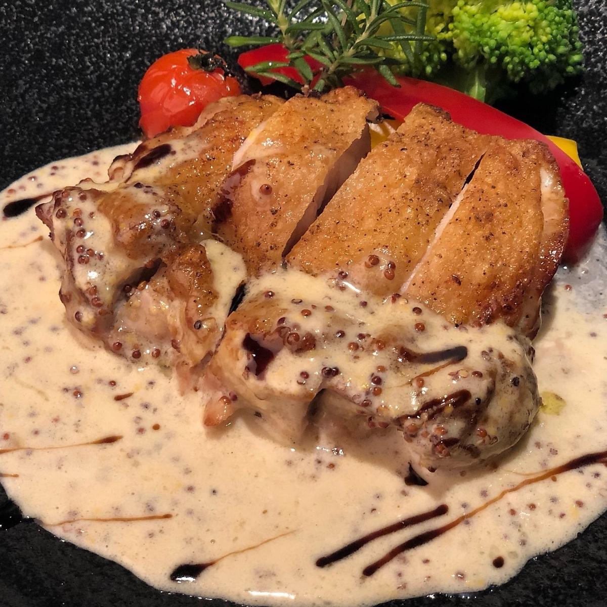 ひろしまハーブ鶏のステーキ