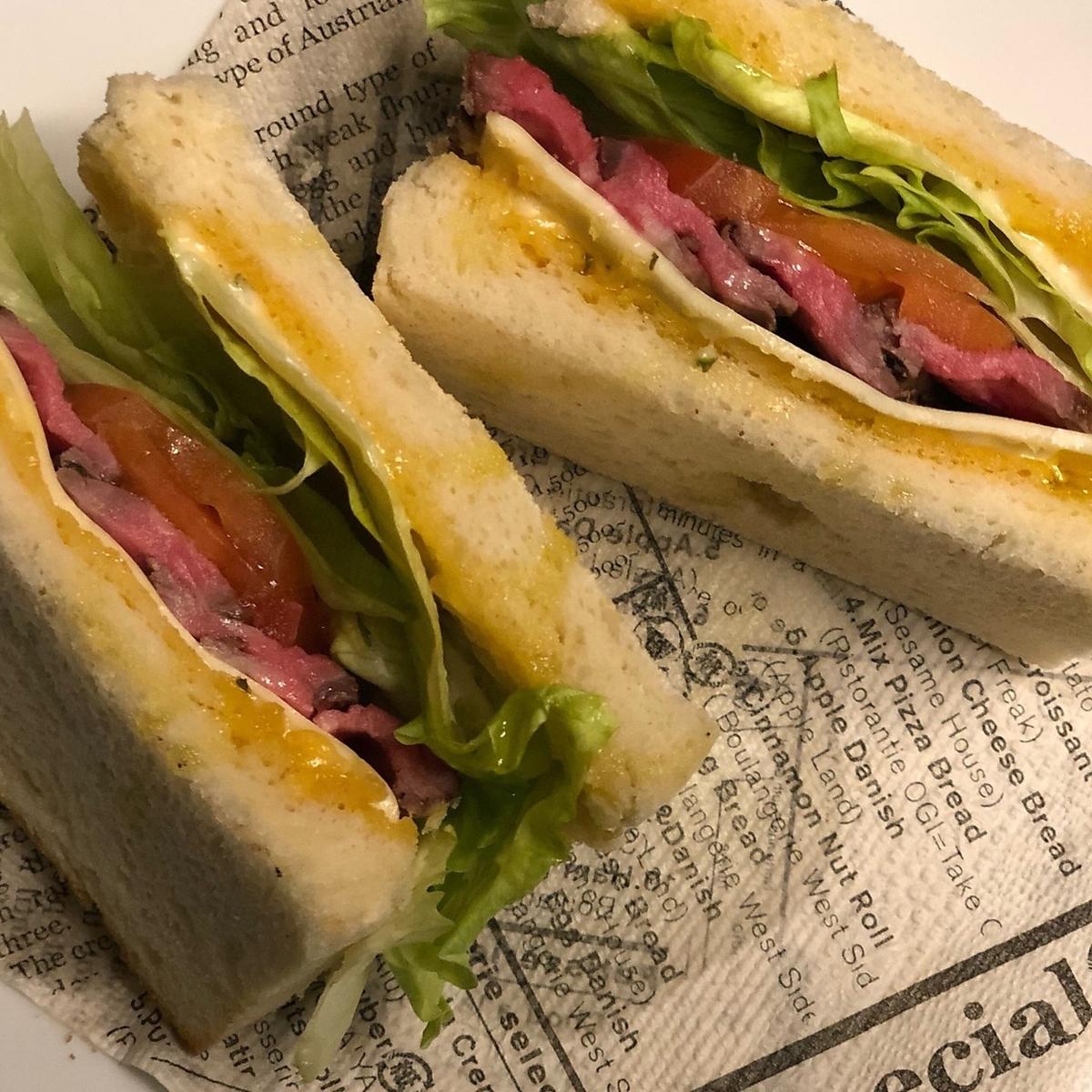 ミラノ風サンドイッチ