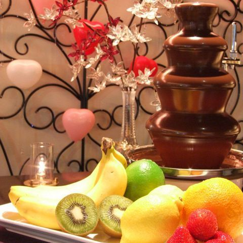 Popular for girls' birthday / birthday! Chocolate fondue can be made!