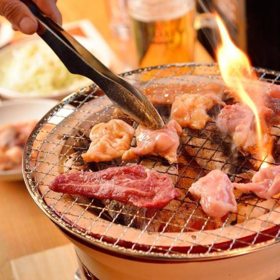 自分だけの七輪でお好きな部位を好きなだけ…仙台牛食べ比べは当店で!!注文は1枚~OK