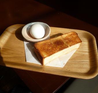 トースト+ゆで玉子
