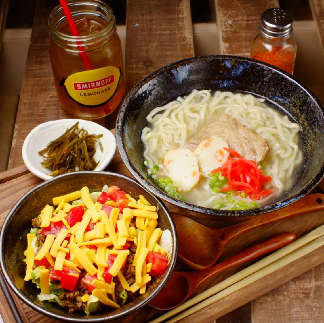 [Speaking of Okinawa cuisine this is exquisite Okinawa soba ♪]