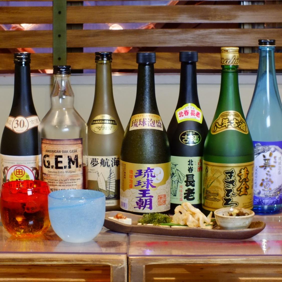 沖縄の珍しい古酒もあります!
