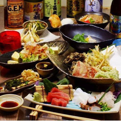 Course that you can enjoy Okinawa cuisine easily ♪ We also offer courses recommended for small group drinking ★
