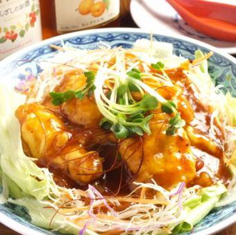 干虾车虾的辣椒酱