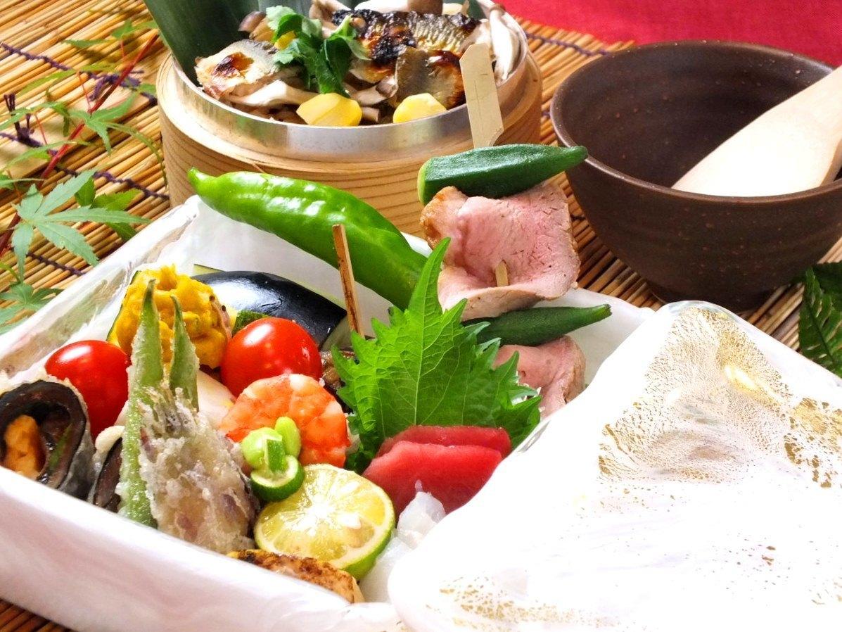 季節の食材や静岡食材をたっぷり使用