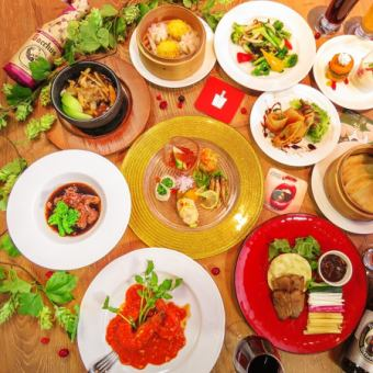 【BOTAN (Button) course】 Only foods that can enjoy Chinese cuisine 14 luxury plans \ 5,000 (tax included)