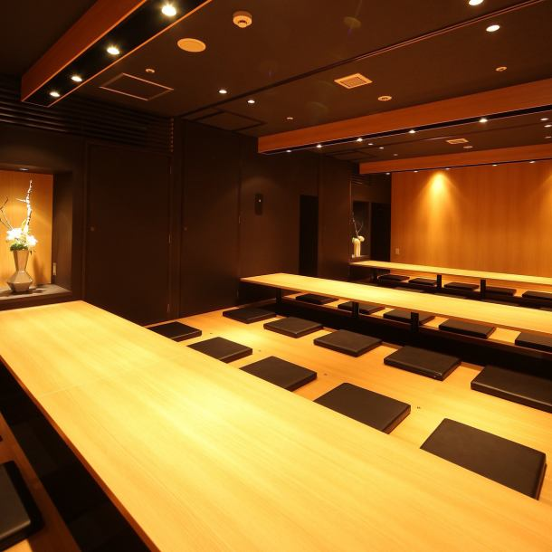 【All-seat private room】 Spacious dugout tatami room for large groups (10 to 40 people)