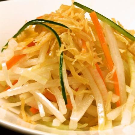 干し貝柱と根菜のサラダ
