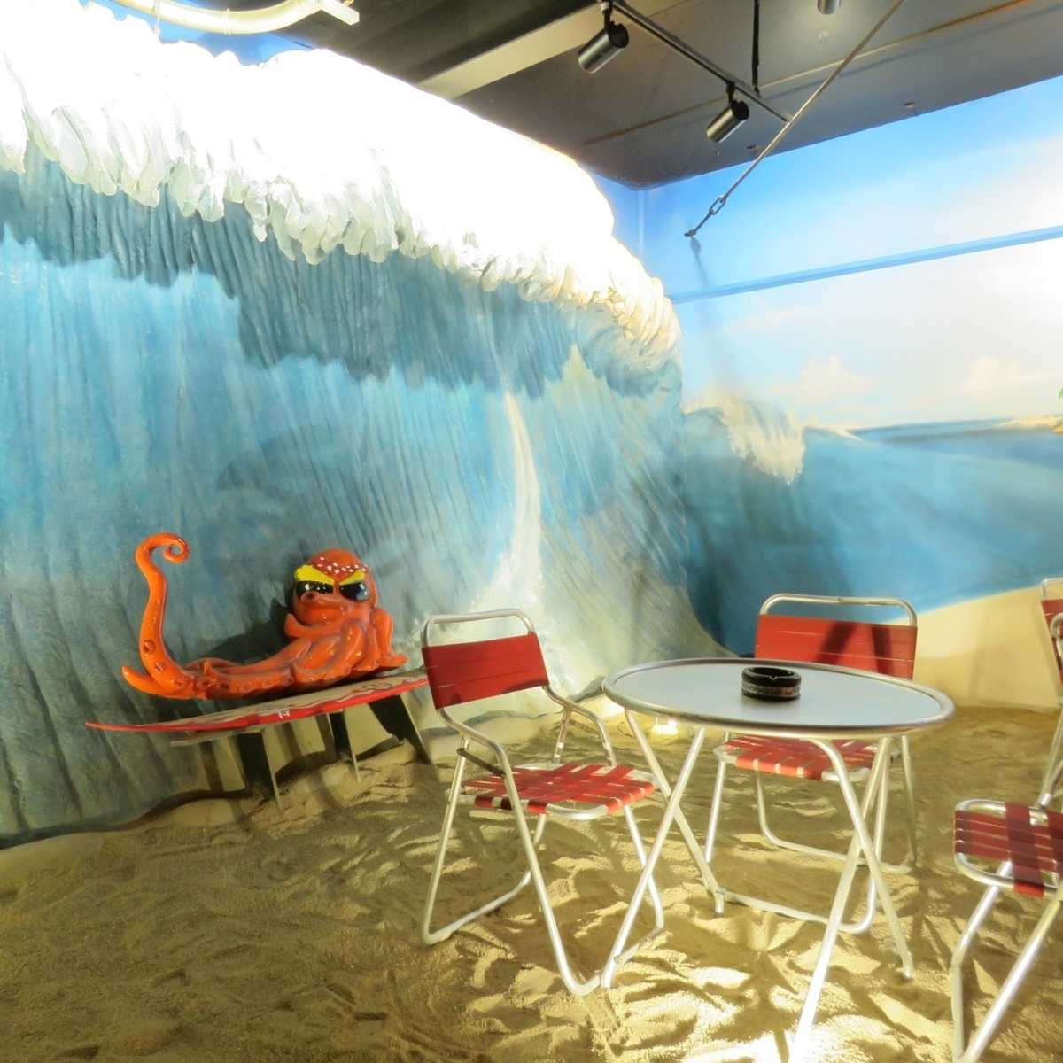 Inside the store where charter facilities are substantial, use of projector and microphone is also free of charge OK [Okayama / Takoyaki / Reef / REEF / Banquet / Chamber]