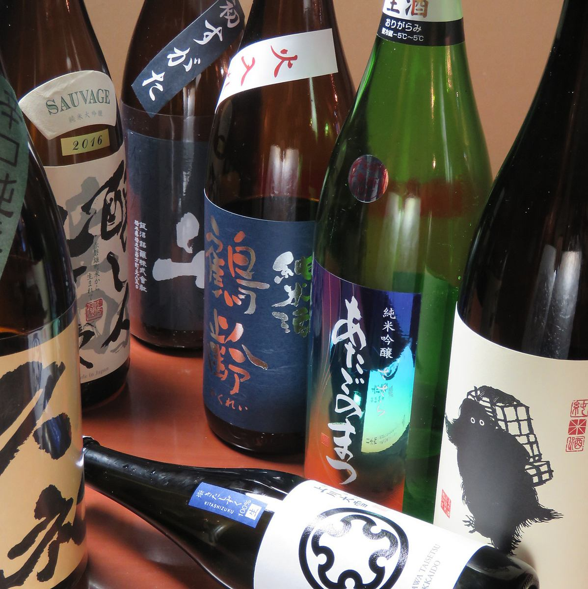 Local sake & Japanese sake & draft beer included 120 minutes all you can drink! Course 3500 yen ★