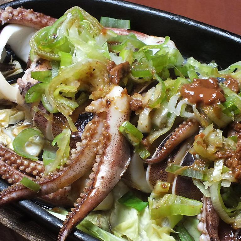 烤魷魚1生魚片Nagiriyaki