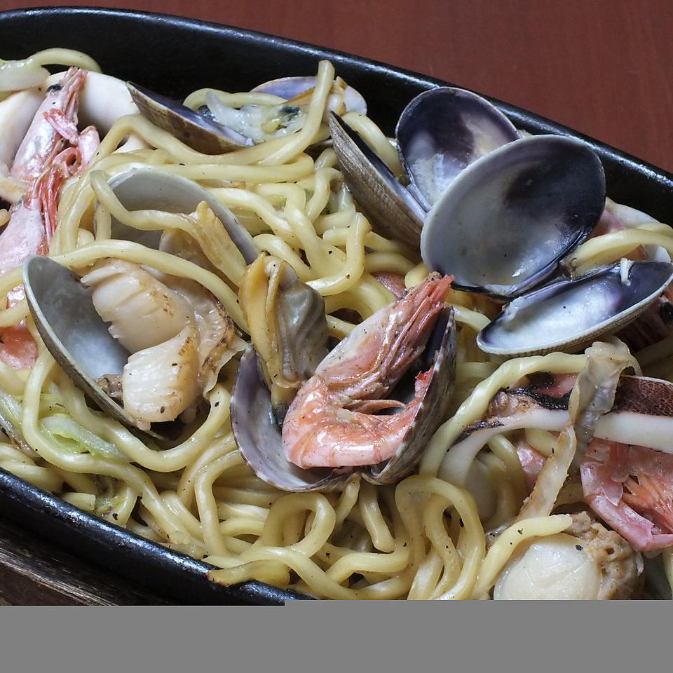 旭川酱油炒面(海鲜)